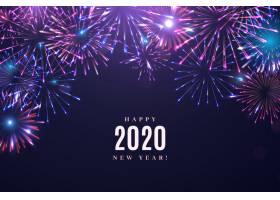 烟花爆竹2020年新年背景_6144777