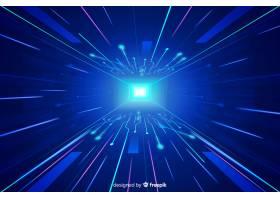 科技光隧道未来主义背景_4920930