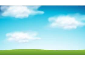 素净的蓝天背景_3521278