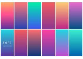 抽象彩色矢量背景集_1445054