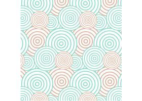抽象的绿色和橙色圆圈背景无缝图案_4315726