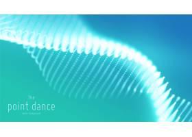 抽象的青色波浪未来主义和科技的蓝色背景_10718910