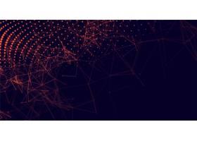 抽象红色粒子数字技术背景_6640331