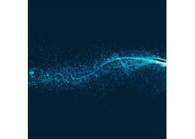 抽象闪亮的蓝色背景_1579041