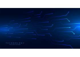 数字技术电路线网状蓝色背景设计_10016602