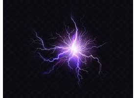 暗色背景上隔离的闪亮的紫色灯光亮紫电放_3519620