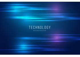 具有灯光效果的蓝色技术背景_4480068