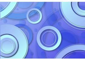 几何形状的蓝色渐变墙纸_11740714