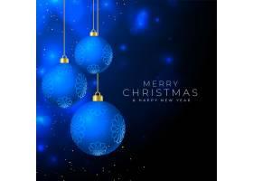 圣诞快乐漂亮的背景和悬挂的小玩意儿_11562568