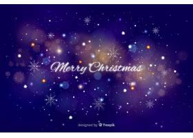 圣诞节闪闪发光的背景_5869605
