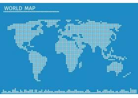 地球世界圆点地图全球地理在虚线模式中_13031912