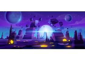 太空游戏背景霓虹灯之夜的外星人景观_7671274