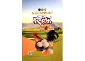 农家特产土鸡蛋农家乐宣传海报设计手机海报,生日海报,旅游海报,