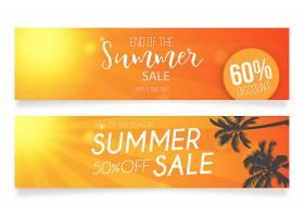 夏季促销横幅模板_2740450