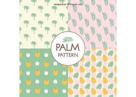 棕榈树图案集粉色棕榈树图案_1107508