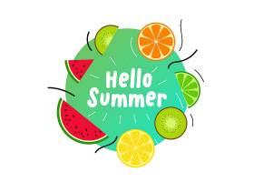 夏季多汁水果背景_4604304