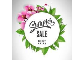 夏季大减价用兰花和树叶围成一圈提供或_2438905