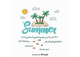 五颜六色的夏日刻字_4460720