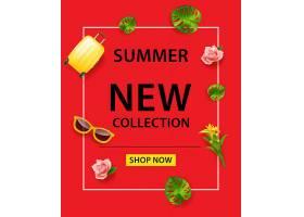 夏季新收藏店现在红色背景上刻字手提箱_2541737