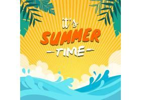 夏季海滩背景_1101611