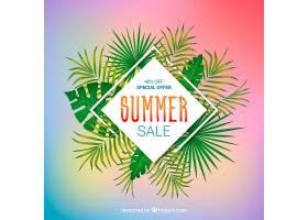 夏季销售背景植物风格写实_2300837