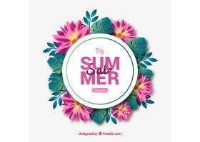 夏季销售背景植物风格写实_2347733