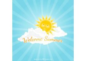 夏日快乐的阳光背景_776942
