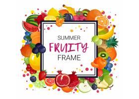夏日水果框架背景_4385323