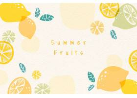 夏日水果背景_4520450