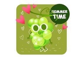 夏日水果背景设计_1086017