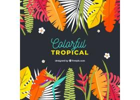 五颜六色的热带背景平面设计_2686938