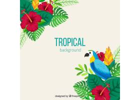 五颜六色的热带背景平面设计_2713715
