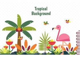 五颜六色的热带背景平面设计_2720309