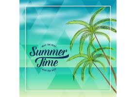 夏日海滩度假可爱的背景_4725768