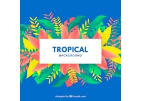五颜六色的热带背景平面设计_2720316