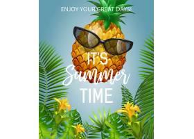 现在是夏天戴着墨镜上面写着菠萝夏季_2749280