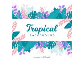 五颜六色的热带背景平面设计_2752333