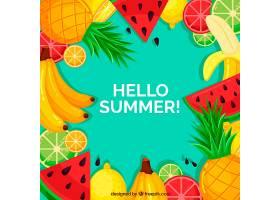 夏日的背景五颜六色的水果_2146835