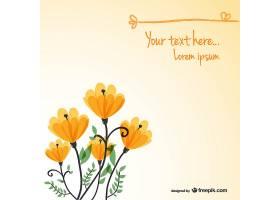 花卉背景卡模板_719628