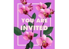 请您在紫色背景上用粉色兰花刻字_2768253