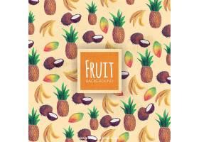 热带水果的装饰背景_1100983