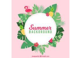 热带风格的夏日背景_2297887