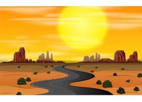 狂野的西部景色日落_4078721