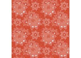 矢量花卉无缝图案背景背景纹理优雅古典_1283286