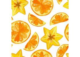 柑橘和杨桃勾勒出天衣无缝的图案夏日水果_11026111
