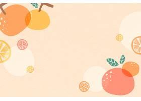 橙色夏季背景自由向量_4520459
