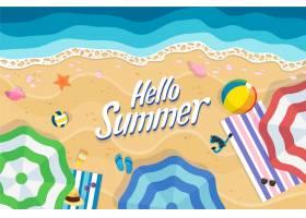 手绘夏季背景_8255130