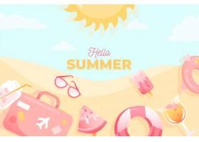 手绘夏季背景设计_8278739