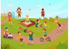 孩子们玩免费作文矢量游戏_4329559