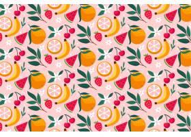 富有创意的五彩缤纷的水果图案背景_9173385